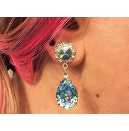 7/16 00g 0g 2g 4g 6g 8g 10g 12g 1 Aquamarine Dangle Plugs Gauges
