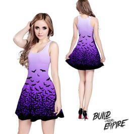 [ Plus Size 2 X L ] Fade To Bats Sleeveless Dress