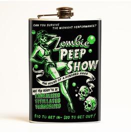 Zombie Peep Show Flask