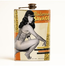 Bettie Page Moderne Savage Flask