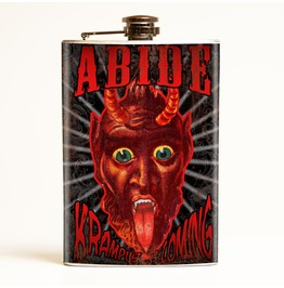 Abide Krampus Is Coming Flask
