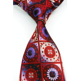 Broken Glass Floral Necktie