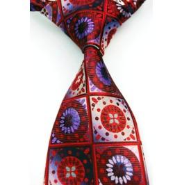 Broken Glass Floral Necktie