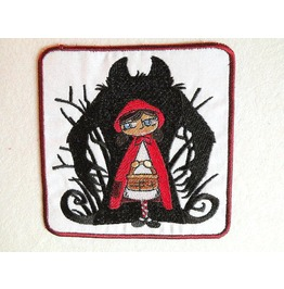 Embroidered Big Bad Wolf Iron/Sew On Patch Red Riding Hood Patch
