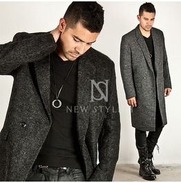 Striking Mohair Wool Boxy Long Coat 71