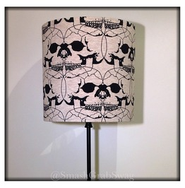 Connected Skulls Lampshade 20cm Drum