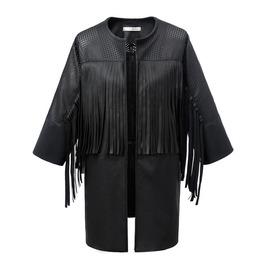 2015 New Fashion Faux Leather Jackets Women Black Leather Jacket Motorcycle