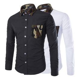 Camouflage Pocket Cotton Men Shirt