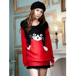 Cat Sweater / Jersey Gato Wh165