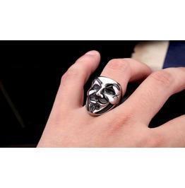 Men's Stainless Steel V For Vendetta Ring