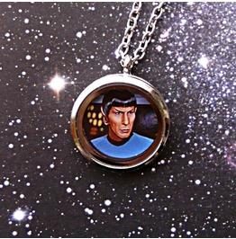 Mr. Spock Necklace, Star Trek, Geek, Scifi, Original Illustration