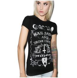Drink Coffee Casual Black Women's T Shirt