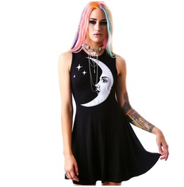Punk Moon And Stars Vest Dress