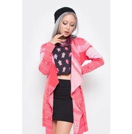 Iron Fist Clothing Love A Lot Care Bears Pink Drape Sweater