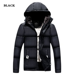 Mens Hooded High Collar Coat