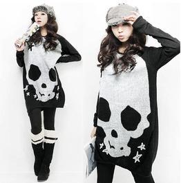 Skull Sweater / Jersey Calavera Wh101