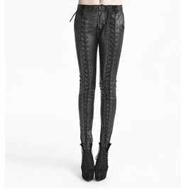 Women's Leather Looking Corseted Goth Pants