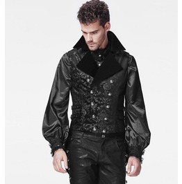 Men's Goth Floral Victorian Vest