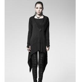 Women's Goth Spiderweb Back Long Cardigan