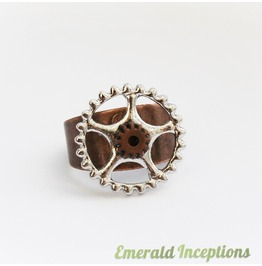 Copper & Silver Steampunk Unisex Ring