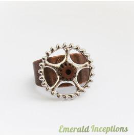 Copper & Silver Steampunk Unisex Ring