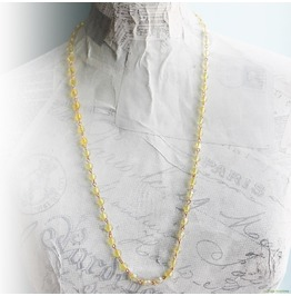 Ombre Yellow Sunshine Beaded Chain Gold Necklace