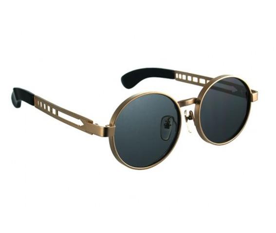 Gold Metal Frame Round Sunglasses 100329