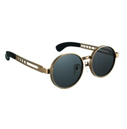 Gold Metal Frame Round Sunglasses