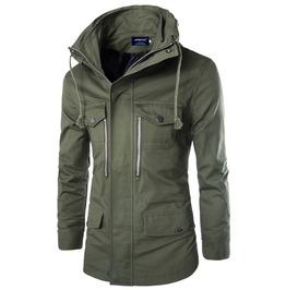 Stand Collar Men Zipper Jacket
