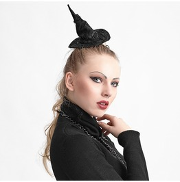 Gothic Lolita Fascinator Witch Hat Pin Hair Accessory