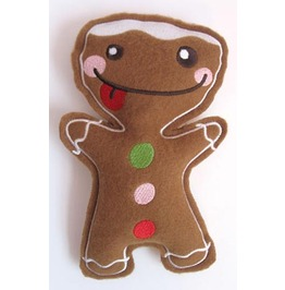 Embroidered Stuffed Gingerbreadman Hanging Christmas Decoration For Trees