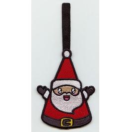 Embroidered Kawaii Santa Hanging Christmas Decoration