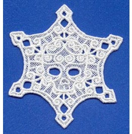 Handmade Lace Skull Snowflake Hanging Christmas Tree Decoration