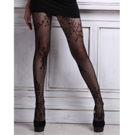 Sexy Floral Mesh Pantyhose