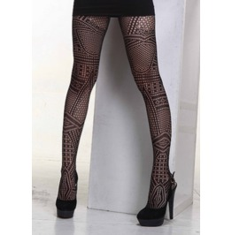 Sexy Fancy Pattern Mesh Pantyhose