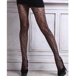 Sexy Leaves Pattern Mesh Pantyhose