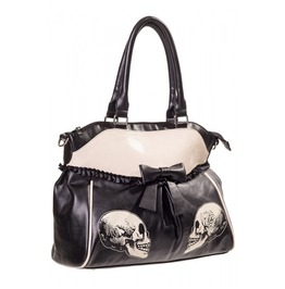 Gothic Rock Alternative Skull & Rose Skeleton Hand Bag Bow Banned Pastel