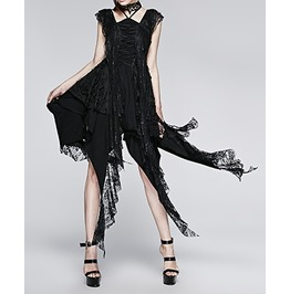 Decadent Gothic Black Lace Dress By Punk Rave