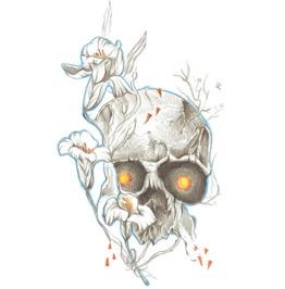 Flower Skull Head Tattoo