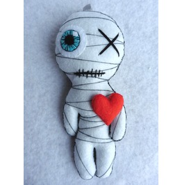 The Original Little Mummy Gothic Felt Voodoo Doll Valentine Love