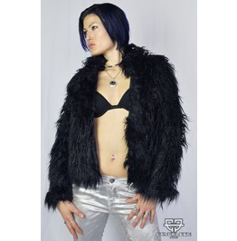 Fantastical Cybergoth Cyberpunk Emo Post Apocalyptic Furry Jacket S, M