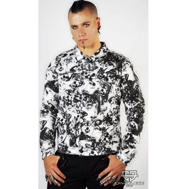 Cryoflesh Wolf Pack Lip Service Gothic Industrial Punk Moto Jacket Xs Xl
