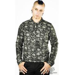 Cryoflesh Catacomb Lip Service Gothic Industrial Punk Moto Jacket Xs Xl