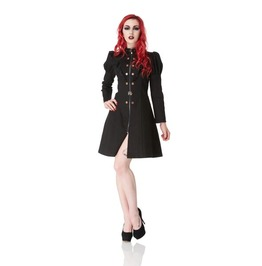 Jawbreaker Fraulina Long Black Steampunk Jacket