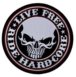Live Free Ride Hardcore Big Patch Kingsize Skull Bull 9.84 Inch / 9.84 Inch