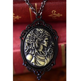 Zombie Lady Cameo Necklace