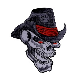 Cowboy Of Death Patch Iron On Sew On Western Rockabilly Southern States