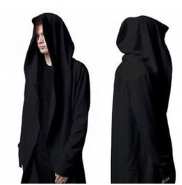 Designer Punk Style Black Men's Cardian Hoodies