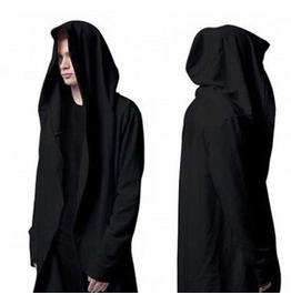 Designer Punk Style Black Men's Cardian Hoodies