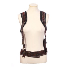 Steampunk Faux Leather Bag With Removable Belts B161